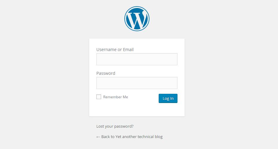 WP Admin logo